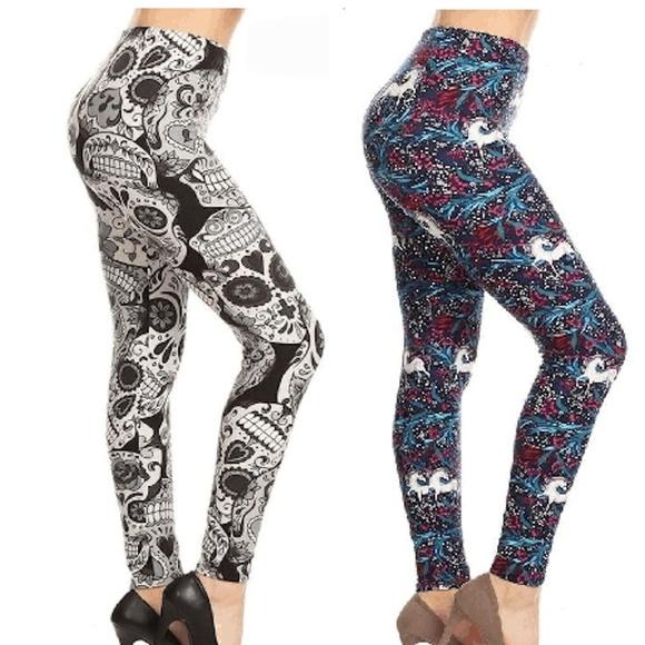0d336cecb NW PLUS WOMENS UNICORN BUTTERY SOFT LEGGINGS PANTS. Boutique. LEGGINGS DEPOT